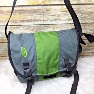 Timbuk2 Green Gray Nylon Messenger Crossbody Bag